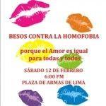 La Policía peruana reprime por la fuerza una besada contra la homofobia en Lima