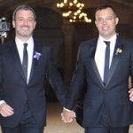 El productor televisivo Óscar Cornejo y el diputado del PSC Jaume Collboni contraen matrimonio en Barcelona