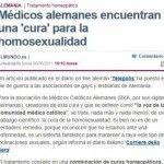 Ambiguo tratamiento de la noticia sobre la «cura» de la homosexualidad mediante homeopatía en «El Mundo»