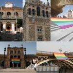 La bandera arco iris toma Sevilla