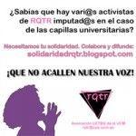 Colecta solidaria con lxs activistas imputadxs de RQTR