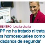 Desde el PP niegan tratar a los homosexuales como ciudadanos de segunda y dicen estar «a la cabeza» del reconocimiento de sus derechos…