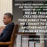 Obama reivindica la igualdad de gays y lesbianas y homenajea a Stonewall en un histórico discurso de toma de posesión