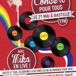 Gran concierto en París para celebrar la aprobación del matrimonio igualitario, con la participación del cantante Mika