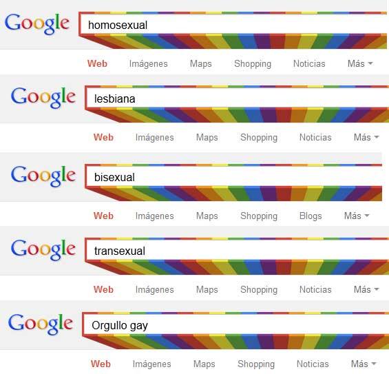 Google adorna con los colores del arcoíris su caja de búsqueda