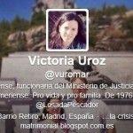 Victoria Uroz, médico forense funcionaria del Ministerio de Justicia, difunde en Twitter mensajes de carácter homófobo