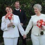 Boda en California de Annise Parker, la alcaldesa abiertamente lesbiana de Houston