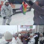 Detenido un activista ruso por enarbolar la bandera arcoíris, mientras Putin niega su homofobia porque «tiene amigos gays»