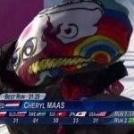 Sutil protesta en Sochi de la surfista sobre nieve Cheryl Maas, abiertamente lesbiana