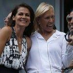 Martina Navratilova contrae matrimonio en Nueva York con su novia Julia Lemigova
