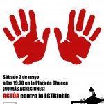 Concentración en la Plaza de Chueca ante el aumento de las agresiones por LGTBfobia en la ciudad de Madrid