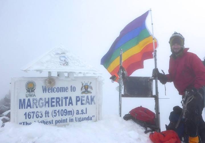 Bandera arcoíris en Uganda