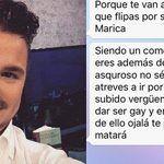 """Amenazas de muerte al periodista gay David Enguita: """"Siendo una marica no mereces vivir"""""""