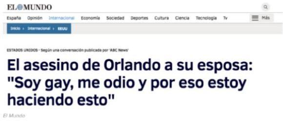 El Mundo noticia falsa Omar Mateen