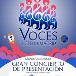 El coro Voces LGTB, compuesto por más de 70 artistas, dará este sábado un gran concierto de presentación en Madrid