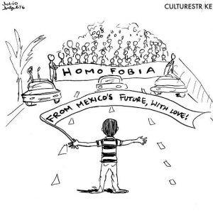 viñeta contra homofobia Julio Salgado en CulturStrike