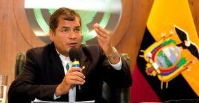 Rafael Correa presidente de Ecuador