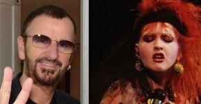 Ringo Starr y Cyndi Lauper