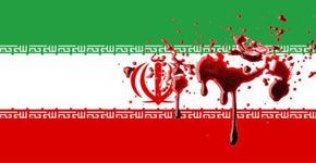 bandera de Iran ensangrentada
