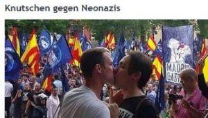 besos contra neonazis