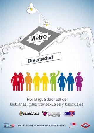 cartel diversidad LGTB Metro de Madrid