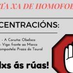Concentraciones de protesta por una agresión homófoba ocurrida el día de Año Nuevo en A Coruña