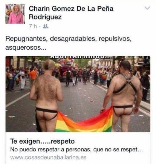 entrada homofoba en Facebook concejala Badajoz