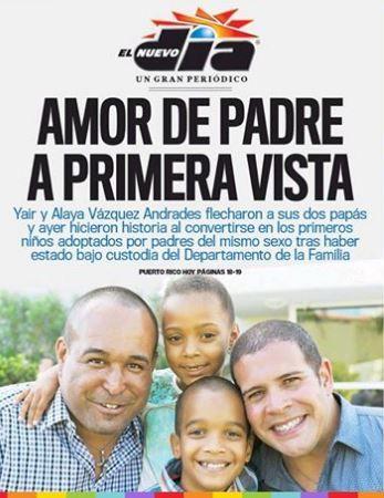 familia homoparental Puerto Rico en portada Nuevo Día