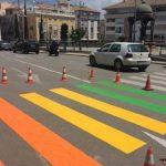Archivada la querella por los pasos de cebra arcoíris de Totana, que el pasado junio desataron las iras del PP local y de La Falange