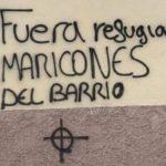 Pintadas homófobas y xenófobas contra el colectivo Kifkif en el exterior de su sede de Alcalá de Henares