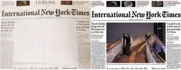 portada NYT Pakistán censura